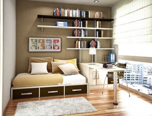 idee de rangement petite chambre visuel 8. Black Bedroom Furniture Sets. Home Design Ideas
