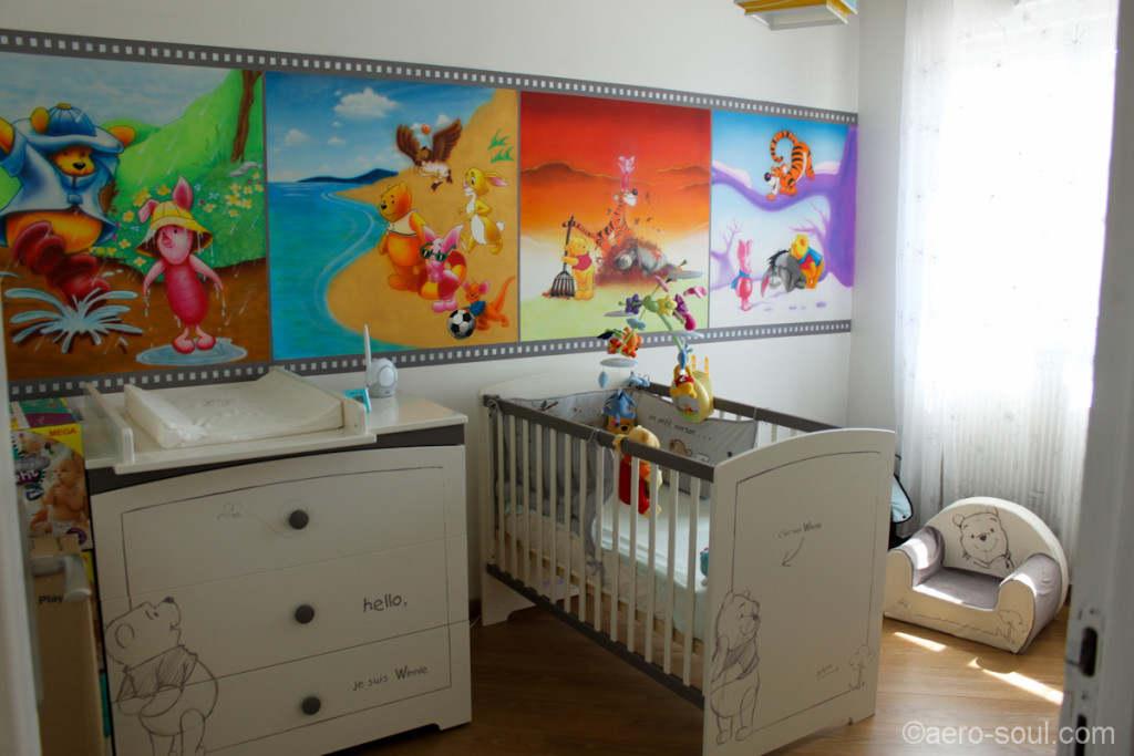 Idee deco chambre bebe winnie l ourson visuel 6 for Idee chambre bebe mansardee