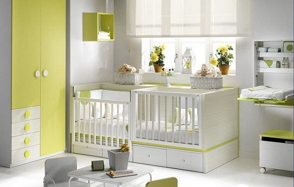 lit d appoint lit double parc bebe pour jumeaux 2en1 jaune. Black Bedroom Furniture Sets. Home Design Ideas