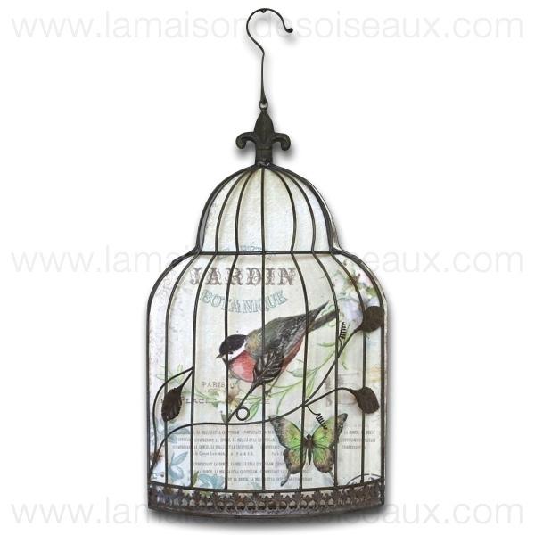 Cage oiseau deco murale visuel 4 for Decoration murale oiseau