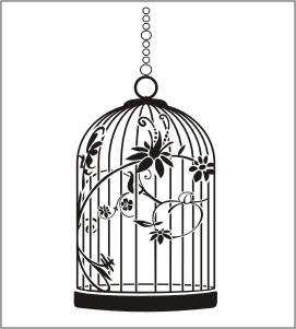 Cage oiseau deco murale visuel 8 for Decoration murale oiseau