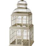 cage oiseau decorative en bois