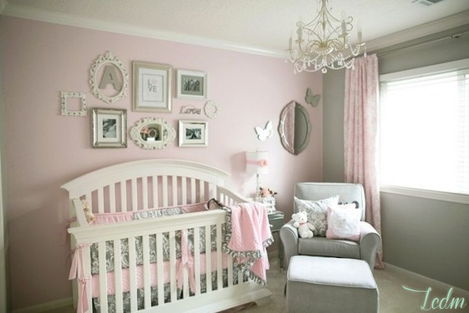 Chambre bebe deco fille visuel 6 for Photo decoration chambre bebe fille
