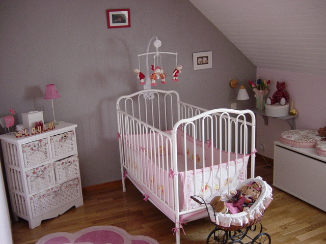 Photo chambre bebe fille deco for Deco chambre bebe gris