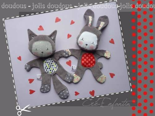 comment faire un doudou lapin en tissu. Black Bedroom Furniture Sets. Home Design Ideas