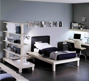 deco chambre ado gris et blanc visuel 6. Black Bedroom Furniture Sets. Home Design Ideas