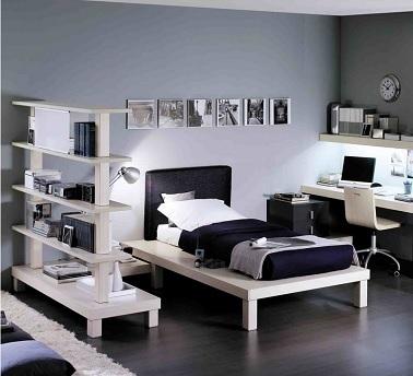 deco chambre ado gris et blanc - visuel #6