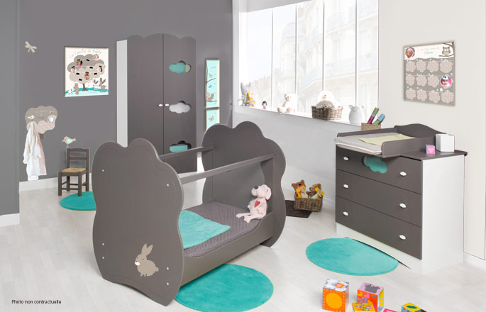 deco chambre bebe animaux de la foret visuel 5. Black Bedroom Furniture Sets. Home Design Ideas