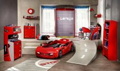 deco chambre bebe gris et rouge - visuel #7