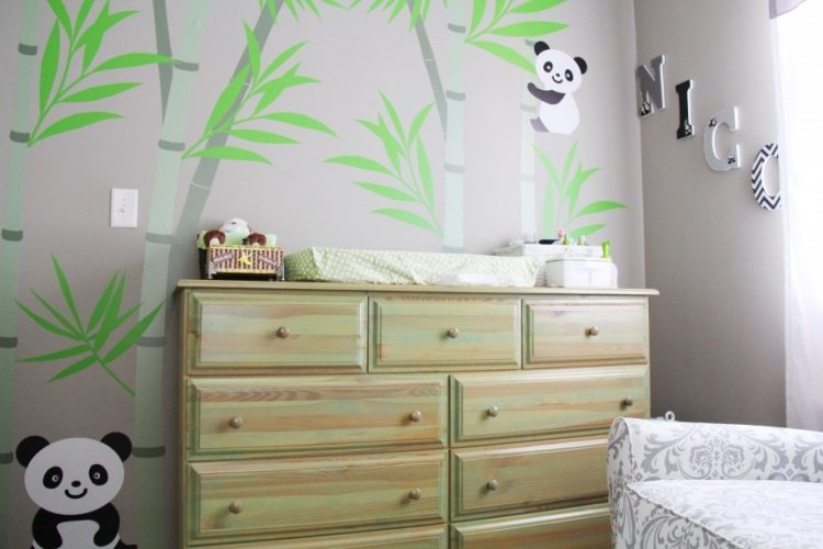 Deco chambre bebe panda visuel 8 for Stickers panda chambre bebe