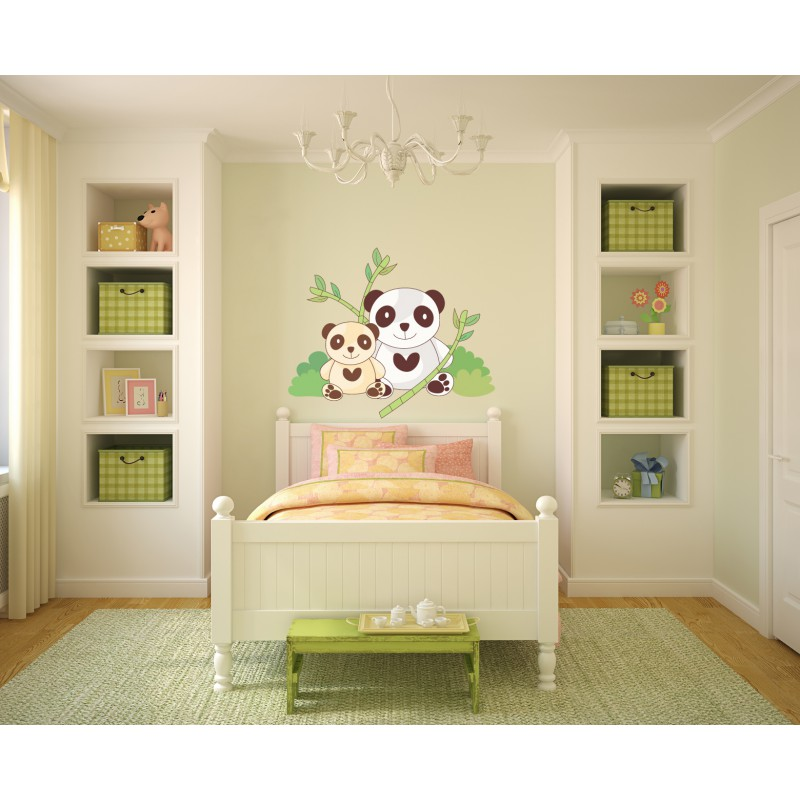 awesome deco chambre bebe panda with chambre bebe style. Black Bedroom Furniture Sets. Home Design Ideas