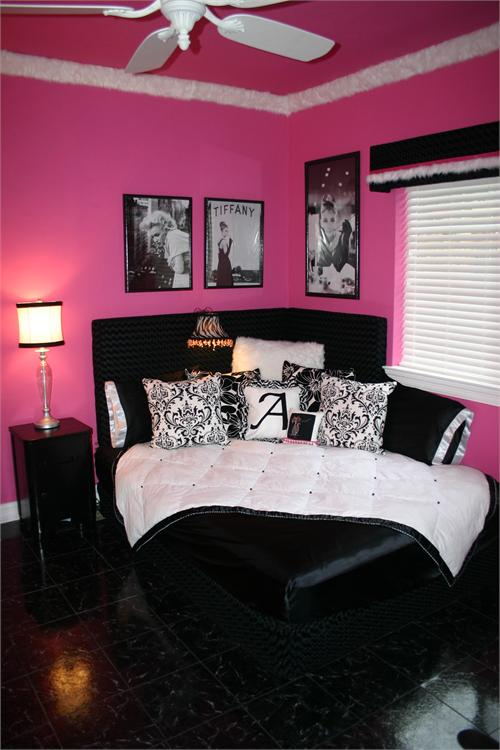 deco chambre fille rose et noir visuel 8. Black Bedroom Furniture Sets. Home Design Ideas