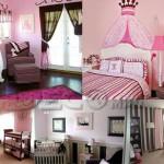 deco chambre fille rose et noir