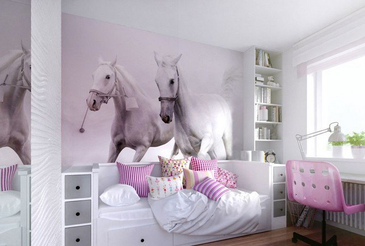 Deco chambre fille theme cheval visuel 7 for Theme deco maison