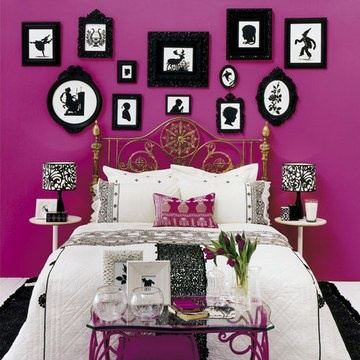 d coration chambre rose. Black Bedroom Furniture Sets. Home Design Ideas