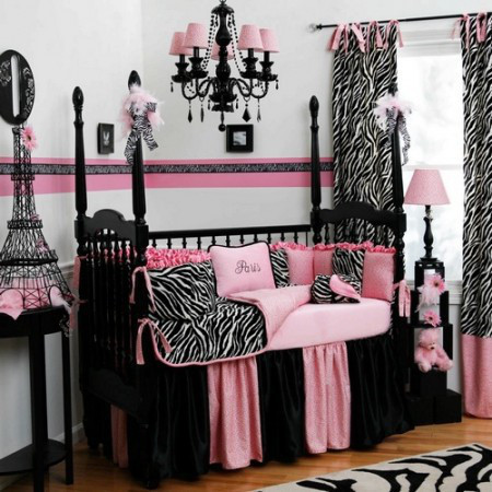 D co chambre rose et noir d co sphair for Chambre rose et noir baroque