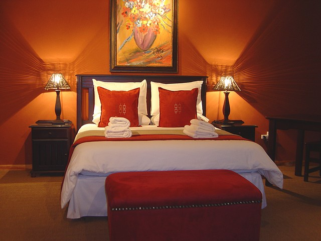 Deco chambre orange marron visuel 3