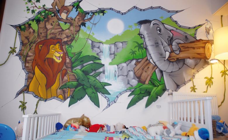 d coration chambre roi lion