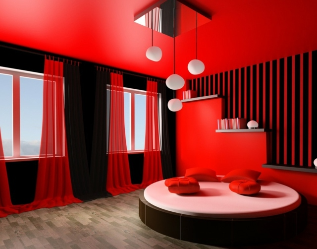 deco de chambre noir et rouge visuel 3. Black Bedroom Furniture Sets. Home Design Ideas