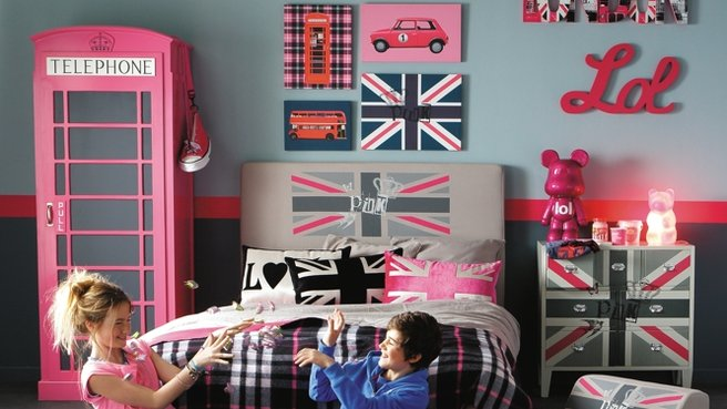 Decoration chambre ado fille london visuel 2 - Decoration london pour chambre ...