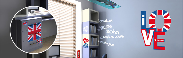 Decoration chambre ado fille london - Deco chambre london fille ...