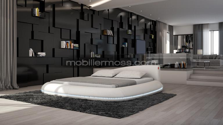 d co chambre lit rond. Black Bedroom Furniture Sets. Home Design Ideas