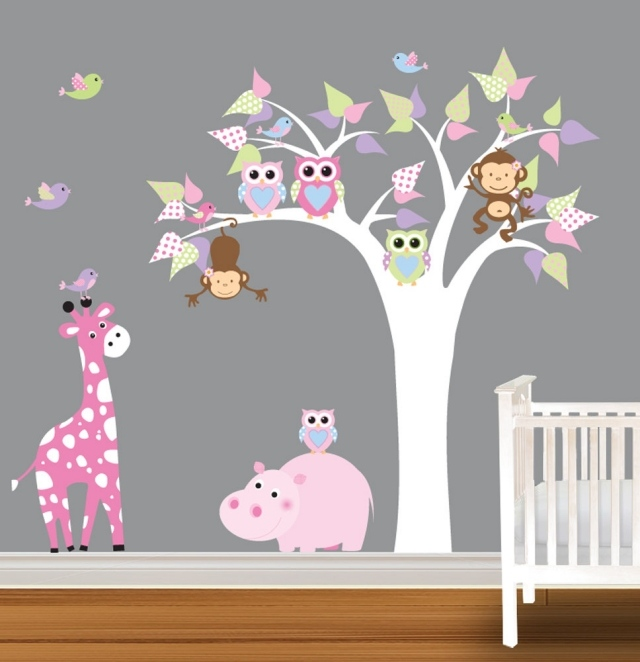 Decoration chambre bebe fille hibou for Photo decoration chambre bebe fille