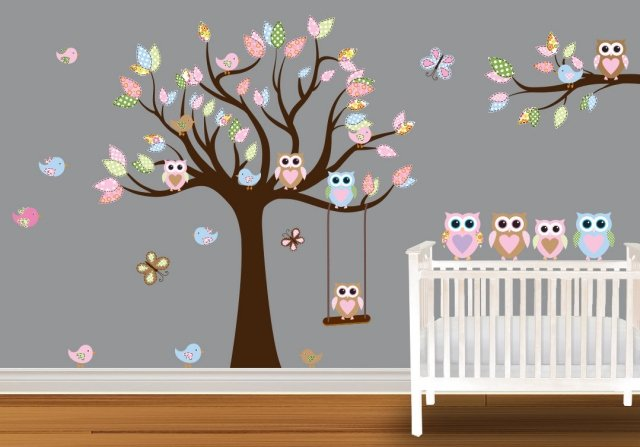 Decoration chambre bebe fille hibou visuel 1 for Decoration chambre hibou