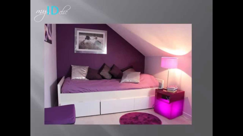 Peinture chambre violet stunning idee deco chambre for Chambre adulte fille