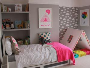 decoration chambre fille girly. Black Bedroom Furniture Sets. Home Design Ideas