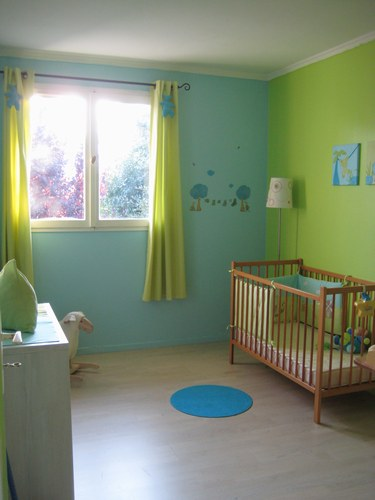 Rideau Chambre Bebe Vert Anis : decoration chambre garcon 1 an decoration chambre garcon 1 an  visuel