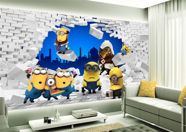 d co chambre minions. Black Bedroom Furniture Sets. Home Design Ideas