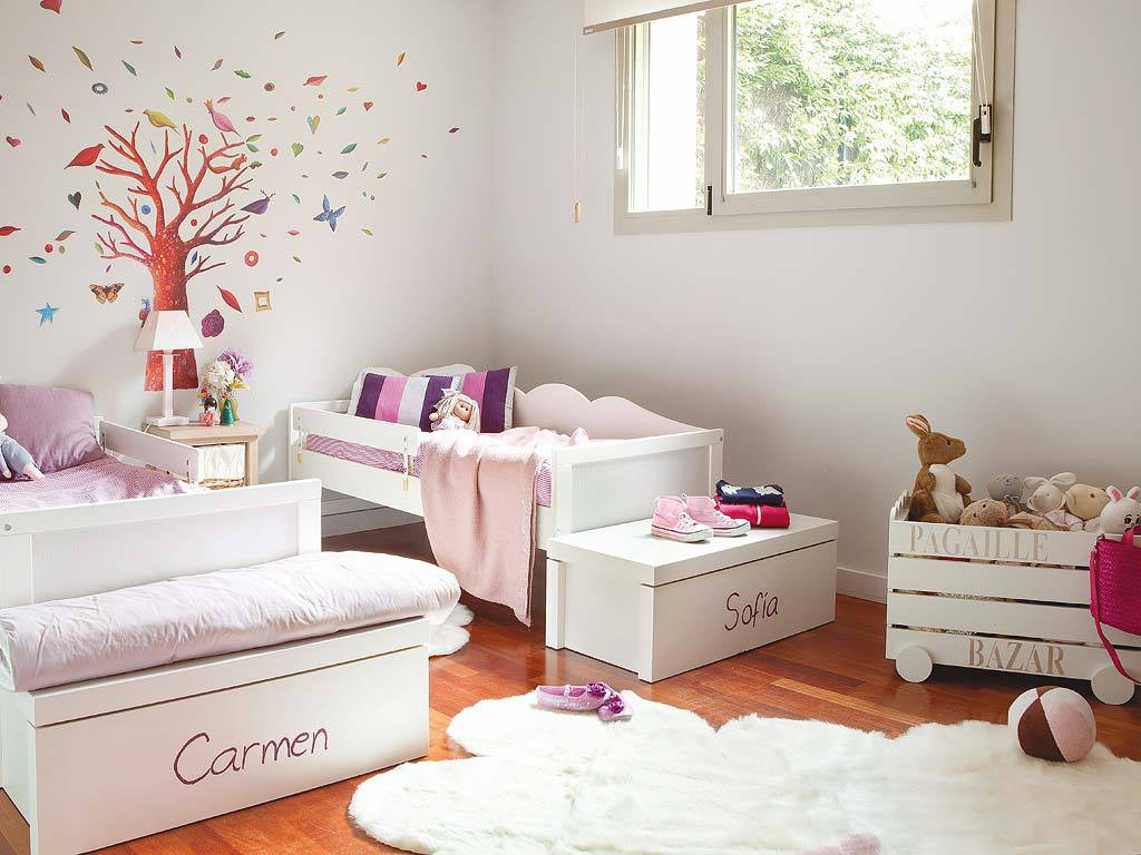 Amenagement chambre fille for Decoration chambre fille 5 ans