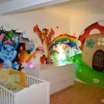 decoration chambre schtroumpf