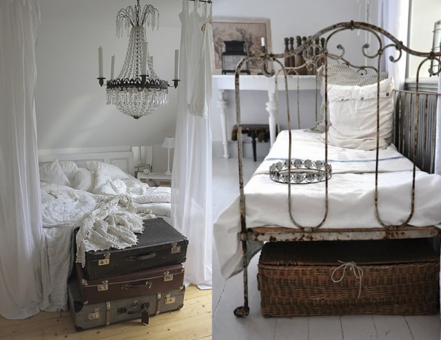 decoration chambre shabby chic visuel 8. Black Bedroom Furniture Sets. Home Design Ideas