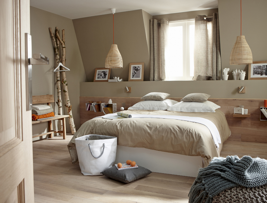 Decoration chambre taupe beige visuel 6 for Decoration chambre taupe