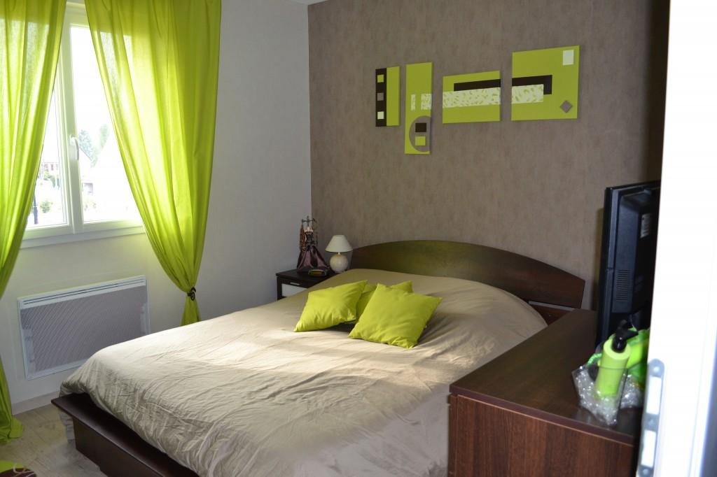 decoration chambre verte et marron - visuel #2