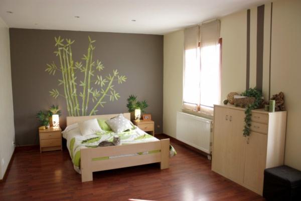 decoration chambre verte et marron - visuel #5