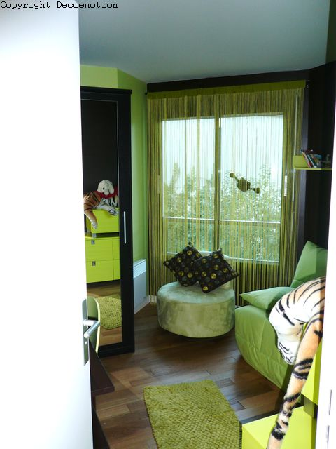 d coration chambre verte et marron. Black Bedroom Furniture Sets. Home Design Ideas