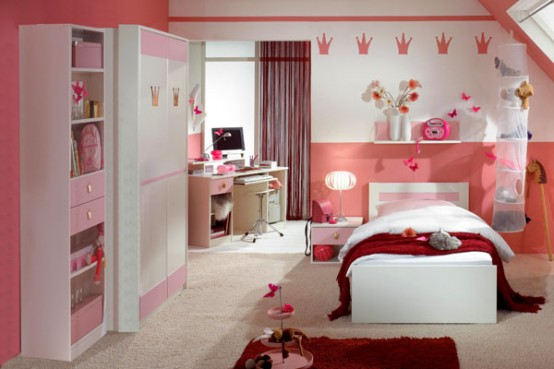 decoration de chambre a coucher pour fille visuel 3. Black Bedroom Furniture Sets. Home Design Ideas