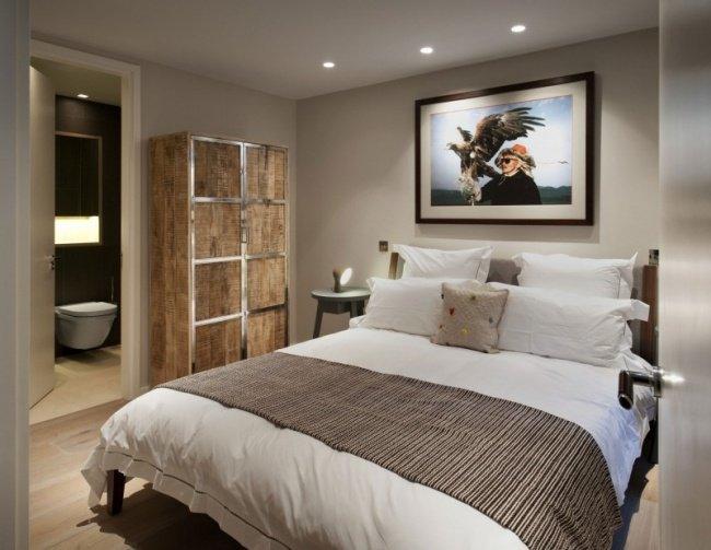 Chambre Rustique. Amazing Ides Chambre Coucher Moderne Avec Une ...