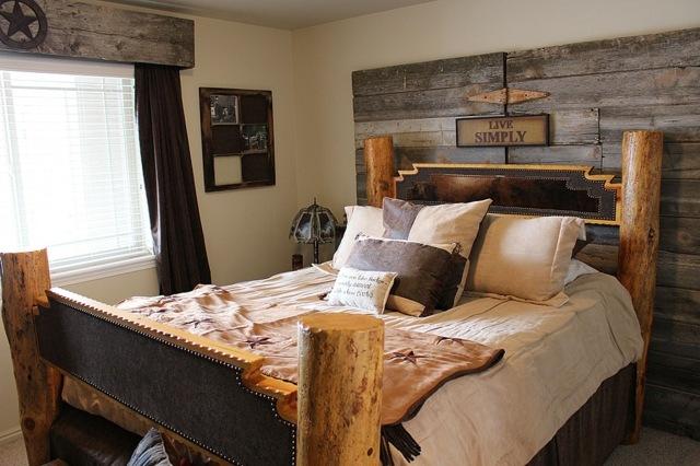 decoration de chambre a coucher rustique visuel 6