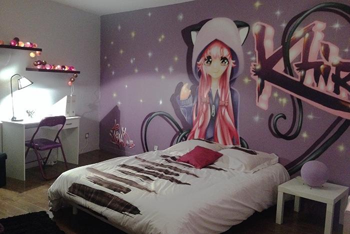 decoration chambre manga
