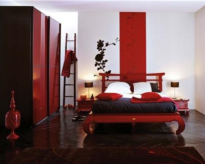 decoration de chambre rouge et noir