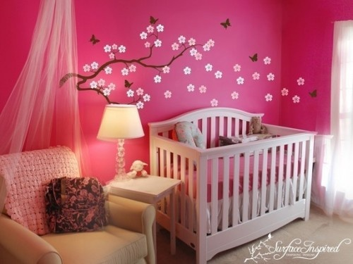 decoration lit bebe fille visuel 5. Black Bedroom Furniture Sets. Home Design Ideas