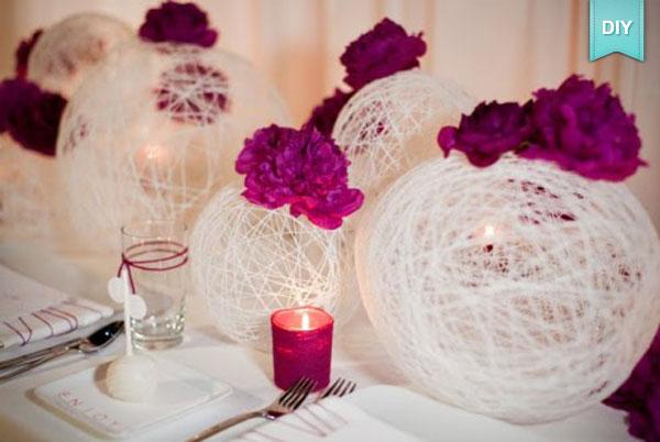 Faire sa decoration mariage soi meme visuel 3 - Decoration table de mariage a faire soi meme ...
