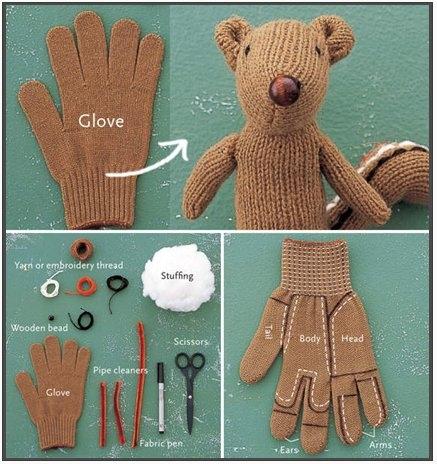 faire un doudou gant