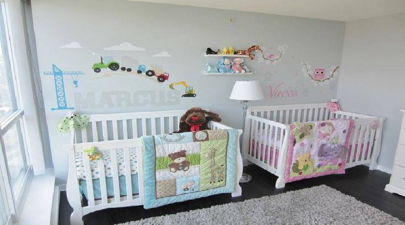 idee deco chambre bebe jumeaux mixte - visuel #2