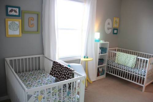 idee deco chambre bebe jumeaux mixte - visuel #8