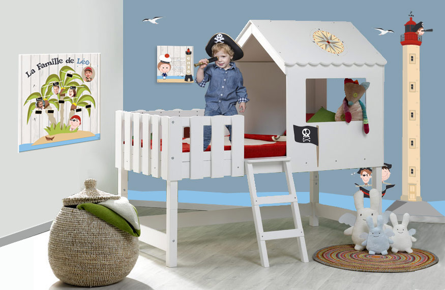 idee deco chambre bebe pirate visuel 2. Black Bedroom Furniture Sets. Home Design Ideas